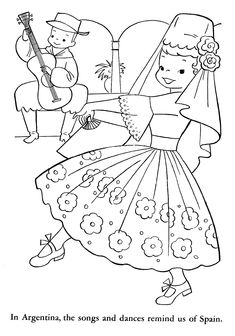 coloring pages spanish culture | Spanish Culture Pages Coloring Pages