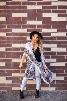 """The prettiest thing we ever did see! Moroccan tile printed scarf. Light weight, open front kimono with side slits.    100% Viscose    $38    One Size    **ALWAYS FREE SHIPPING** Use code FREESHIP in """"do you have a discount code""""    Xx Liv 