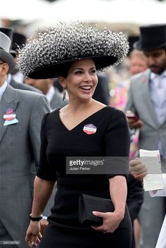 Princess Haya bint Al Hussein attends the first day of The Royal Ascot race meeting on June 14, 2016 in Ascot, England.(Photo by Julian Parker/UK Press via Getty Images)