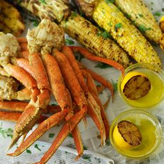 Grilled Crab Legs in Foil Packet! Tastes like summer! -Sloop Family Favorite (we don't do corn in the foil just crabs) Green Egg Recipes, Crab Recipes, Asian Recipes, Crab Legs On The Grill, Grilling Recipes, Cooking Recipes, Grill Meals, Grilled Seafood, Gourmet