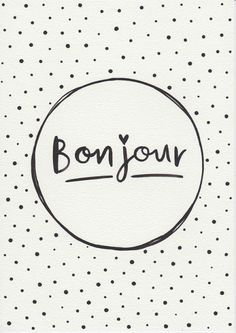 Original Painting Typographic Print French Quote Print Minimalist Print Bonjour Typography Gift For Her Black and White by FeatherAndSixpence on Etsy Mais Quote Posters, Quote Prints, French Quotes, Words Quotes, Original Paintings, Typography, Inspirational Quotes, Black And White, House Beautiful