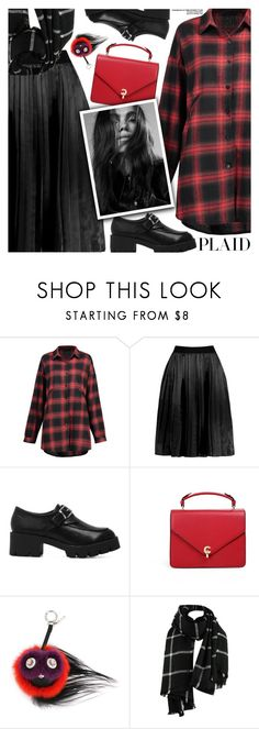 """""""Check It: Plaid"""" by pokadoll ❤ liked on Polyvore featuring Fendi"""