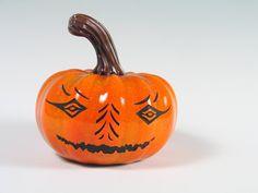 Jack O Lantern Blown Glass Pumpkin Halloween by AvolieGlass, $375.00