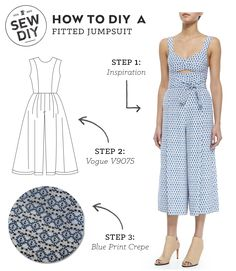 DIY Outfit –Fitted Jumpsuit — Sew DIY