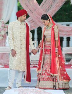 Indian real wedding-Anita Dongre wedding lehenga