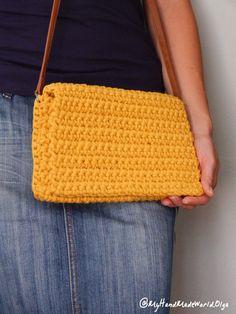 Crochet bag crochet clutch by OlgasHandMadeWorld on Etsy