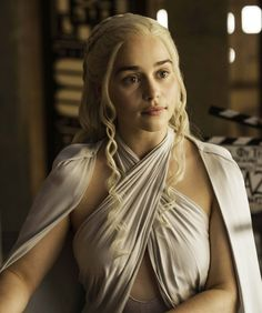 Khaleesi on the prowl. Khaleesi is feeling frisky. To express her sexuality, she fashioned a GOT from a single scarf. The sexiest and boldest of the going-out tops, the DIY scarf-top broadcasts confidence: She is the master of her own destiny.
