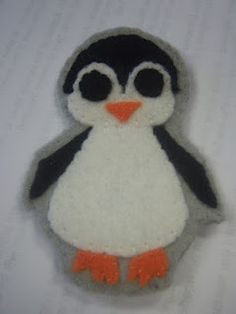 Felt Badge-Penguin made for spunkybubbles