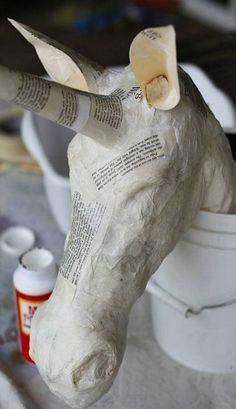 DIY paper machete unicorn. Emma would love this!