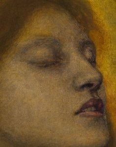 Detail from Beata Beatrix, Dante Gabriel Rossetti    Rossetti modeled Beatrice after his deceased wife and frequent model, Elizabeth Siddal, who died in 1862 from a laudanum overdose, possibly a suicide.