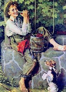 Norman Rockwell- The Old Oaken Bucket (1932)
