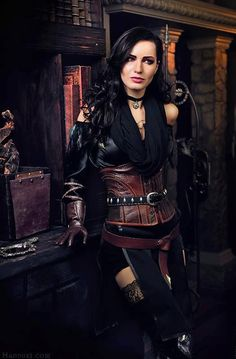 Character: Yennefer of Vengerberg / From: Andrzej Sapkowski's 'The Witcher' Short Stories and Novels & CD Projekt RED's 'The Witcher' Video Game Series / Cosplayer: Maria Khanna (aka Maria Hanna Cosplay, aka Hannuki) The Witcher 3, Witcher Art, Witcher 3 Wild Hunt, Witcher 3 Yennefer, Yennefer Cosplay, Yennefer Of Vengerberg, Mode Steampunk, Steampunk Fashion, Gothic Steampunk
