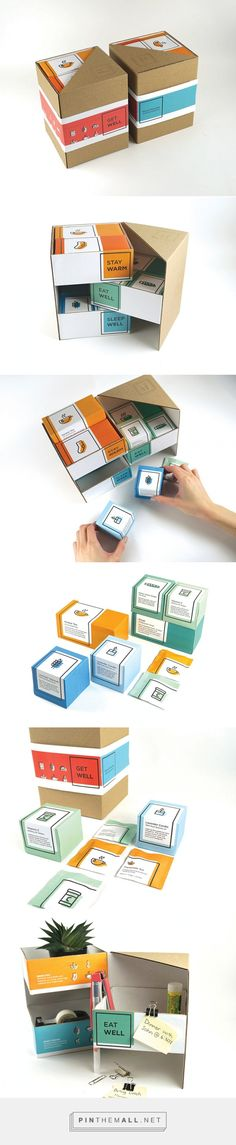 Get Well all-in-one cold survival natural remedies kit by Tammy Kitt. Pin curated by #SFields99 #packaging #design