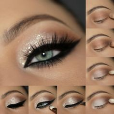 Eye Base -Demure Palette for transition and depth Pressed Eyeshadows in -Vanilla all over the lid -Bitter Chocolate to smudge along the lower lash line -Gel Eyeliner LBD -Son. Gel Eyeliner, Eyeliner Brands, How To Apply Eyeliner, Black Eyeliner, Eyeliner Pencil, Smokey Eye Makeup Tutorial, Eyeliner Tutorial, Eye Makeup Tips, Beauty Makeup