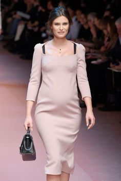 Last season the unlikely street style movement was maternity dressing. Eva Chen, Yasmin Sewell and the pint-sized Russian editors Miroslava Duma and Natasha Goldenberg were all expecting and delivered A* maternity style. This season it's gone from bumps on the Sartorialist to bumps on the catwalk.