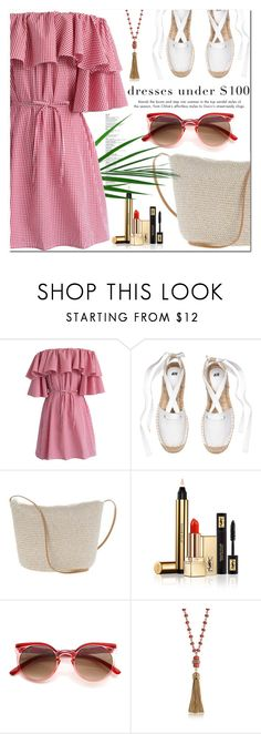 """""""Summer dresses under $100"""" by jan31 ❤ liked on Polyvore featuring Chicwish, Yves Saint Laurent, Tory Burch, Summer, summerdresses, under100 and offshoulderdresses"""