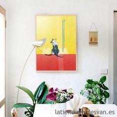 "Láminas animales: ""Gata Azul"", ARTISTA - Juan Ángel Molina.   #laminas #prints #gato #decoracion #interiordesign"