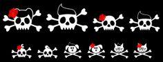 Rockabilly Skull Family Stickers
