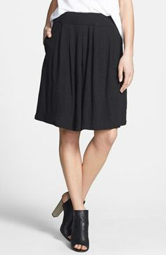Eileen Fisher Pleat Jersey Skirt available at #Nordstrom
