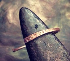 The Forgive Bracelet/ Cuff by ReworkCreative on Etsy, $30.00