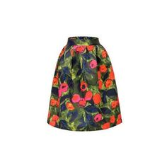 Yoins High Waisted Pleated Midi Skirt (84 BRL) ❤ liked on Polyvore featuring skirts, yoins, floral print midi skirt, high-waisted skirts, green midi skirt, midi skirt and floral skirt