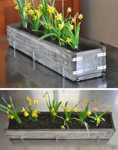 DIY Rustic Wood Planter Box | 27 DIY Rustic Decor Ideas for the Home | DIY Rustic Home Decorating on a Budget