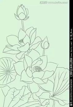 Hoa sen Lotus Drawing, Lotus Painting, Lotus Art, Fabric Painting, Painting & Drawing, Flower Line Drawings, Flower Sketches, Art Drawings, Diwali Painting