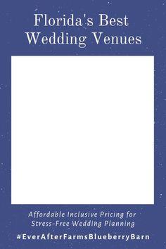 Click to learn more about Florida's Best Wedding Barns!  #BarnWedding #FloridaWeddingBarn #DestinationWedding #Engaged #EverAfterFarmsBlueberryBarn Wedding Barns, Best Wedding Venues, Wedding Vows, Farm Wedding, Diy Wedding, Destination Wedding, Wedding Planning, Wedding Ideas, Blueberry Wedding