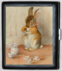 Rabbit Tea Cigarette Case