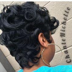 Gorgeous pixie scissorhappychante   memphisstylist curls memphishair backshot voiceofhair