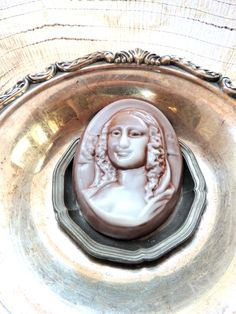 """""""Mona Lisa Soap,"""" by thecharmingfrog on Etsy -- Black currant scented."""
