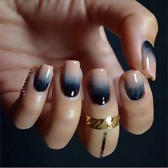 Simply Gradient nude and black for cold winter