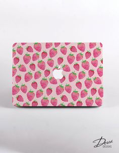 Hard Plastic Strawberries Pattern MacBook Case Design for MacBook Pro Retina Display and MacBook Air Case by DessiDesigns on Etsy