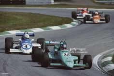 (36) Ivan Capelli - March 86B Cosworth DFV - Genoa Racing - (4) John Nielsen - Ralt RT20 Honda - Ralt Racing Ltd. - (41) Pierluigi Martini - Ralt RT20 Cosworth DFV - Luciano Pavesi Team - ? (6)  Emanuele Pirro - March 86B Cosworth DFV - Onyx Race Engineering - Zeltweg - 1986 FIA Formula 3000 Intercontinental championship, round 8 - © Rainer W. Schlegelmilch / gettyimages