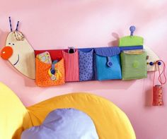 caterpillar wall deco/storage