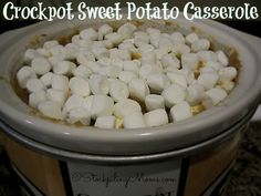 Crockpot Sweet Potato Casserole is the best way to make it! #crockpot