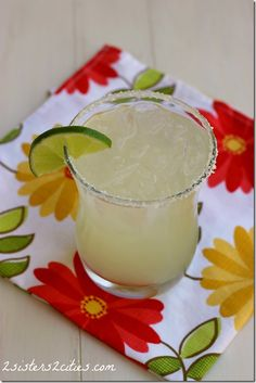 The best!  No mix!  Love that I know what's in it.  Classic Margaritas {from 2 Sisters 2 Cities}