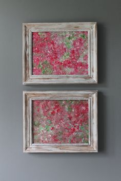 Geraniums In A Big Way Shabby Chic Original Abstract by lotsahappy, on Etsy SOLD