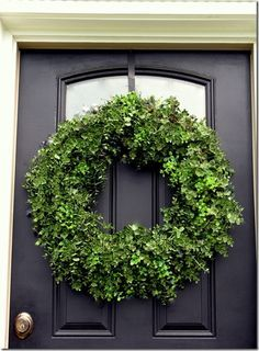 Created from grapevine wreath. Good for an everyday wreath