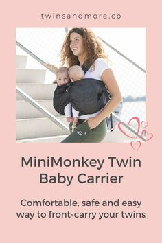 Worldwide shipping within days. For Twins 4 - 24 months. The Minimonkey Twin and tandem carrier is a great alternative to a double ring sling making it ideal for babywearing twins. Newborn Twins, Twin Babies, Twin Carrier, Baby Carrying, Minimalist Baby, Expecting Twins, Twin Tips, Raising Twins, Ring Sling