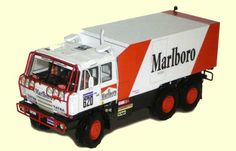 Dakar 1988 Tatra 815 VD 13 350 6x6.1 Truck Ver.2 Free Vehicle Paper Model Download