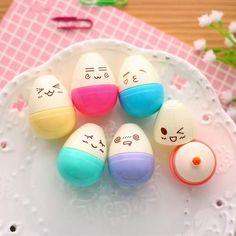 Smiley Mini Egg Highlighter 6-Pack