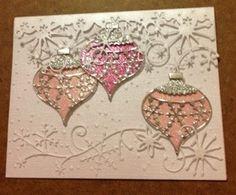 Here is a Christmas card by Amy O. She is a talented card maker. On this card, Amy used several Memory Box dies. 14 days left till Christmas.