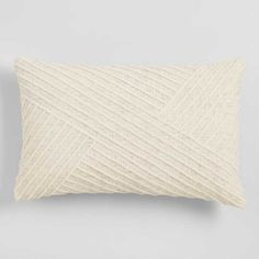 Give your home a cozy and current aesthetic with this sizeable lumbar pillow. Crafted in India, it's covered with our exclusive angled-line design. Lumbar Throw Pillow, Throw Cushions, Toss Pillows, Outdoor Throw Pillows, Accent Pillows, Decorative Throw Pillows, Pillow Room, Pillow Talk, Affordable Home Decor