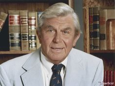 """Andy Griffith – was an American actor, television producer, Grammy Award-winning Southern-gospel singer, and writer. Best known for his roles as Sheriff Andy Taylor in """"Mayberry RFD"""" and the wiley attorney Ben Matlock in """"Matlock"""" The Andy Griffith Show, Celebrity Photos, Celebrity News, Richard Dawson, Ron Howard, Star Wars, Christian Music, Hollywood Stars, Classic Hollywood"""