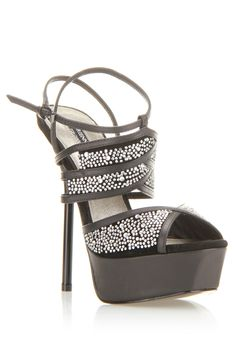 Adrienne Maloof Veronica High Heel Sandals In Black