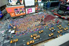 Yoga at Time Square