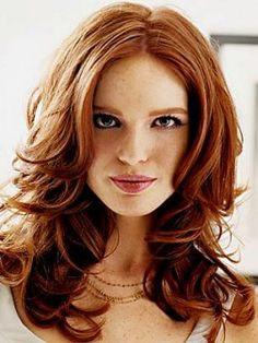 Just a pic Makeup for red heads; but I love the cut and color here...