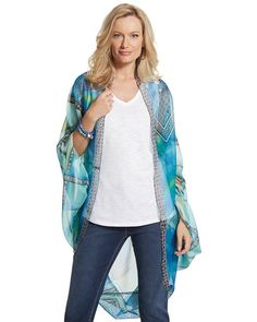 Chico's Jackie Tile Cocoon Wrap #chicos
