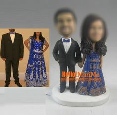 Indian wedding cake toppers personalized wedding by Hellominime